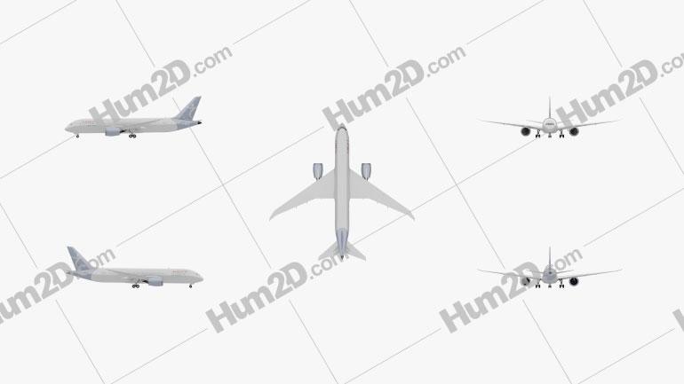 Boeing 787 Dreamliner Aircraft clipart