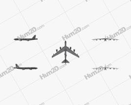 Boeing B-52 Stratofortress Flugzeug clipart