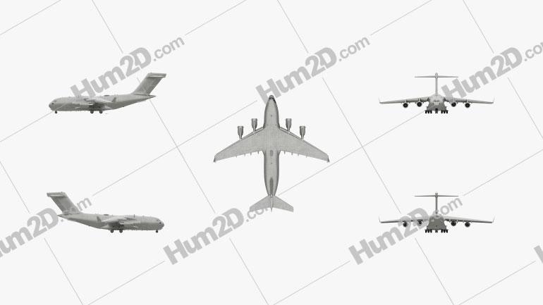 Boeing C-17 Globemaster III Aircraft clipart