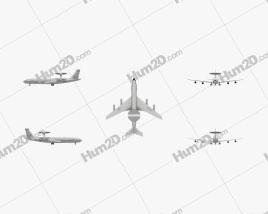 Boeing E-3 Sentry Flugzeug clipart