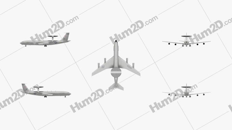 Boeing E-3 Sentry Aircraft clipart