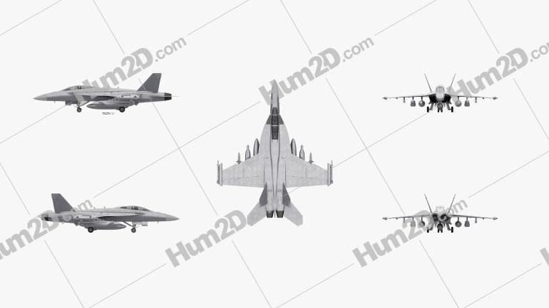 Boeing EA-18G Growler Aircraft clipart