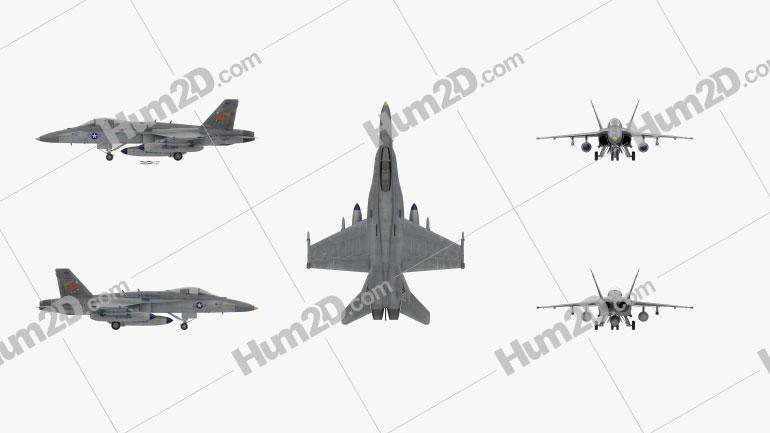 McDonnell Douglas F/A-18 Hornet Blue Angels Jet Aircraft clipart