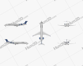 Bombardier CRJ700 series Clipart