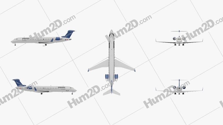 Bombardier CRJ700 series Aircraft clipart