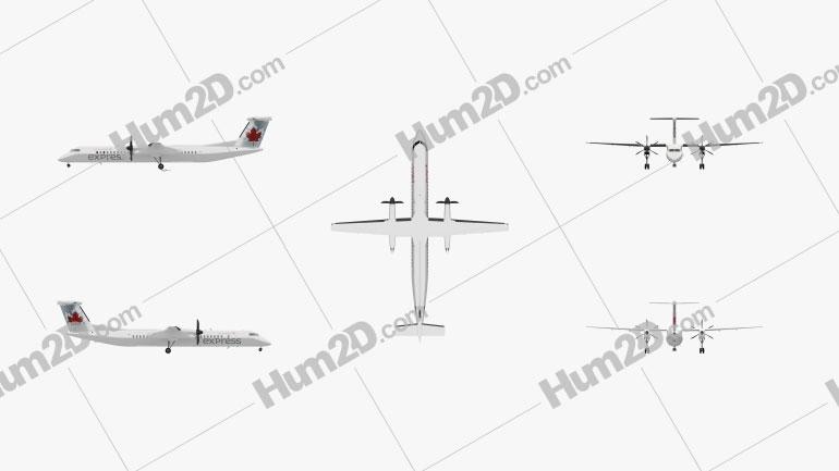 Bombardier Dash 8 Aircraft clipart