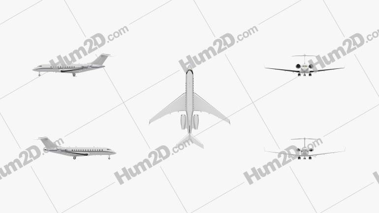 Bombardier Global Express Flugzeug clipart