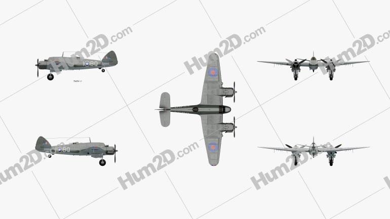 Bristol Beaufighter Aircraft clipart