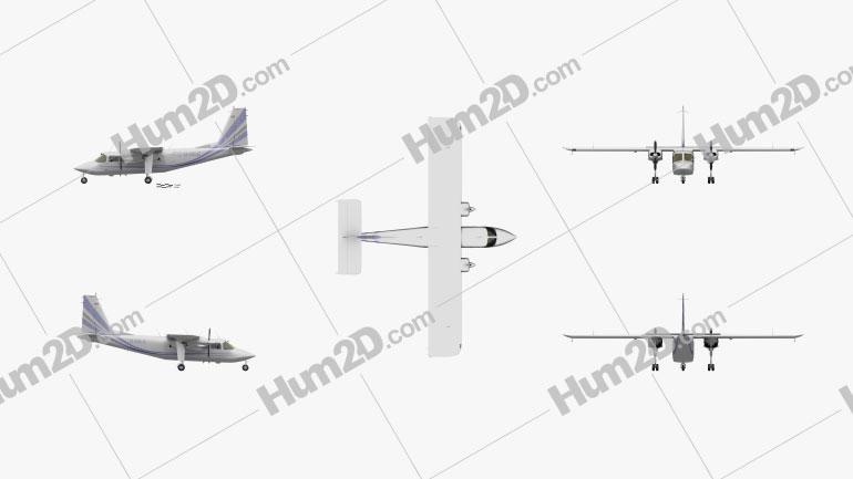 Britten-Norman BN-2 Islander Aircraft clipart