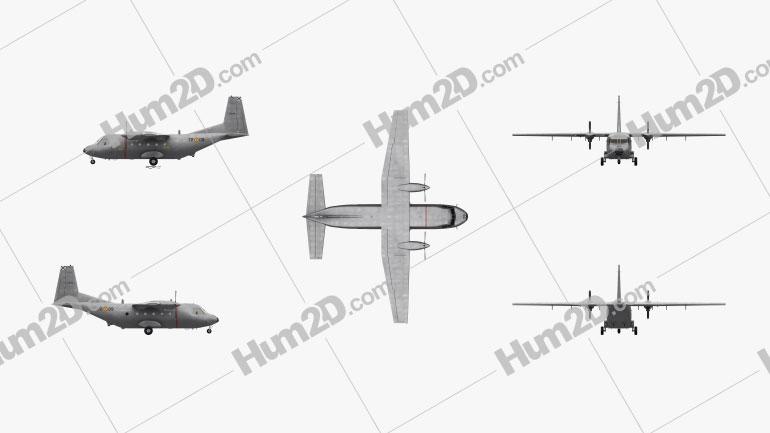 CASA C-212 Aviocar Aircraft clipart