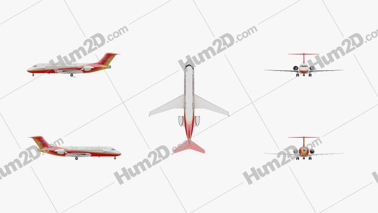 Comac ARJ21 Aircraft clipart