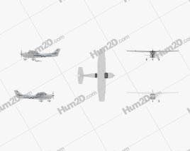 Cessna 172 Skyhawk Flugzeug clipart