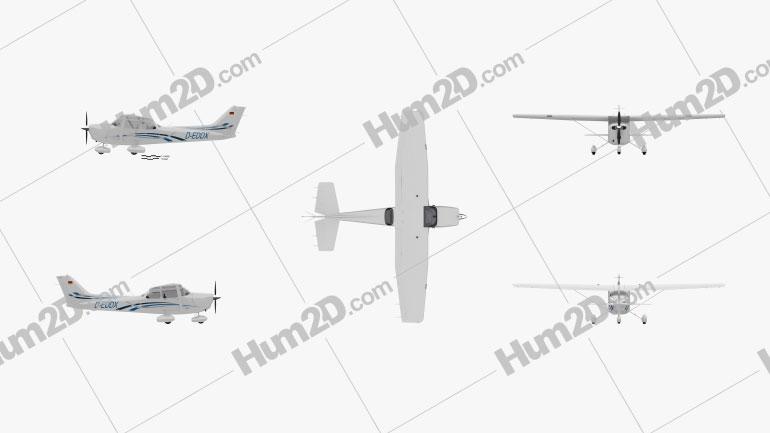 Cessna 172 Skyhawk Aircraft clipart