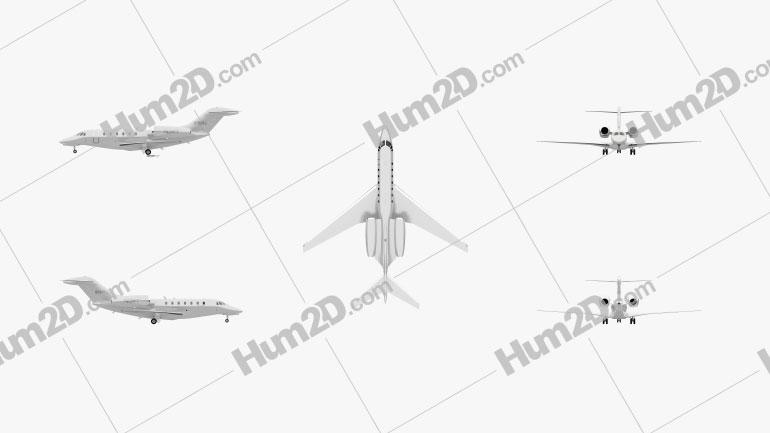 Cessna 750 Citation X Flugzeug clipart