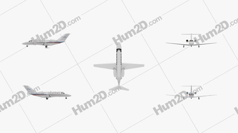 Cessna Citation CJ3 Flugzeug clipart