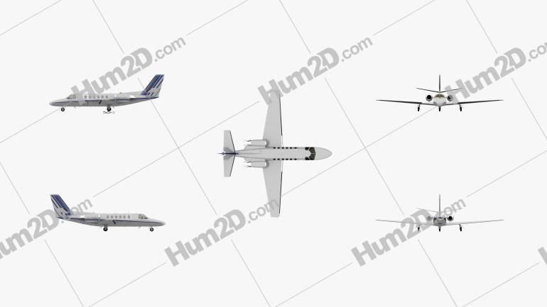 Cessna Citation II Flugzeug clipart