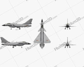 Chengdu J-10 Aircraft clipart