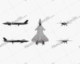 Chengdu J-20 Aircraft clipart