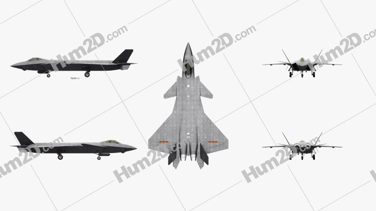 Chengdu J-20 Clipart Image