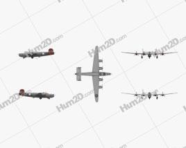 Consolidated B-24 Liberator Aircraft clipart