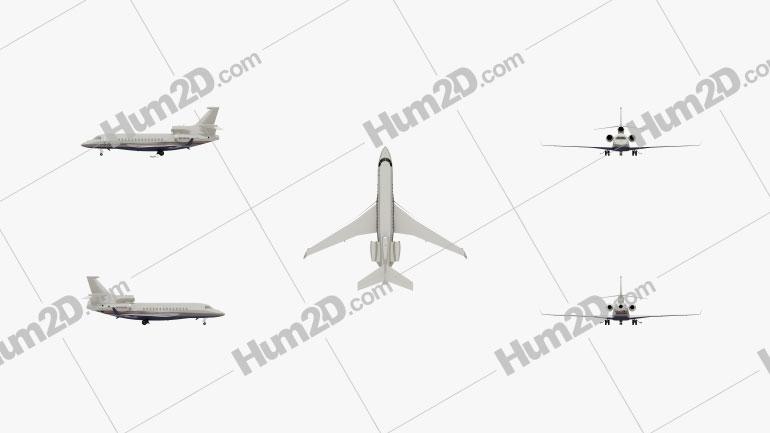 Dassault Falcon 7X Flugzeug clipart