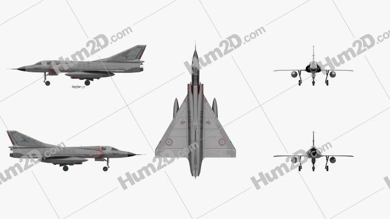Dassault Mirage III Aircraft clipart