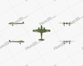 Dornier Do 17E Flugzeug clipart