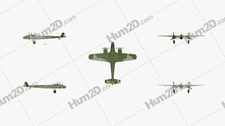Dornier Do 17E Aircraft clipart