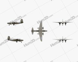 Douglas A-20 Havoc Aircraft clipart