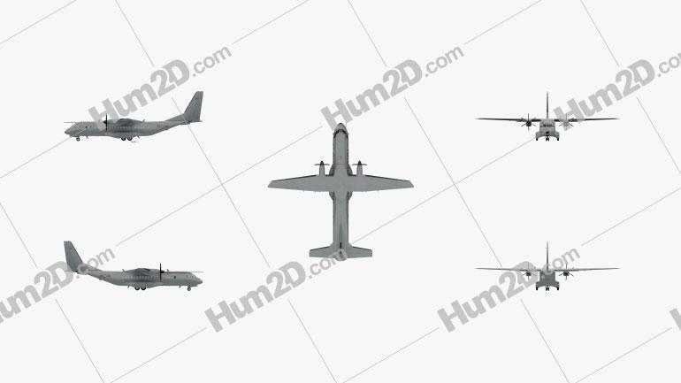 EADS CASA C-295 Aircraft clipart