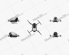 Ehang 184 AAV Aircraft clipart