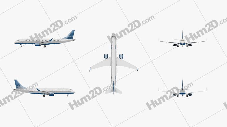 Embraer E190 Aircraft clipart