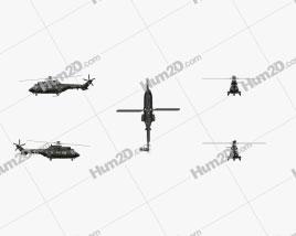 Eurocopter AS532 Cougar Military Medium Helicóptero Utilitário Aeronave clipart