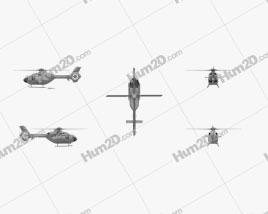 Eurocopter EC135 Civil Light Helicóptero Utilitário Aeronave clipart