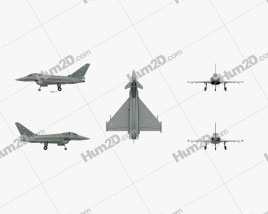 Eurofighter Typhoon Aircraft clipart