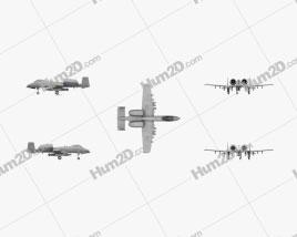 Fairchild Republic A-10 Thunderbolt II Flugzeug clipart