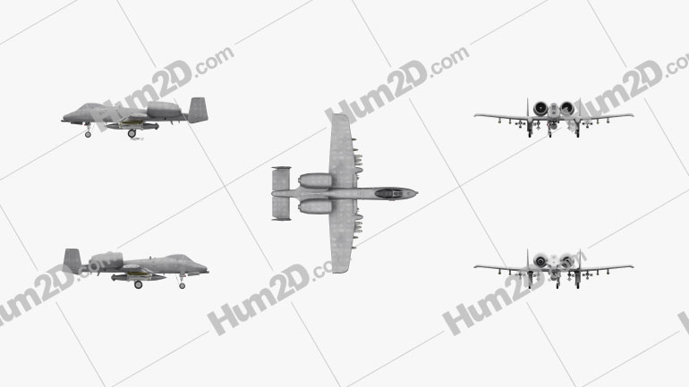 Fairchild Republic A-10 Thunderbolt II Aircraft clipart