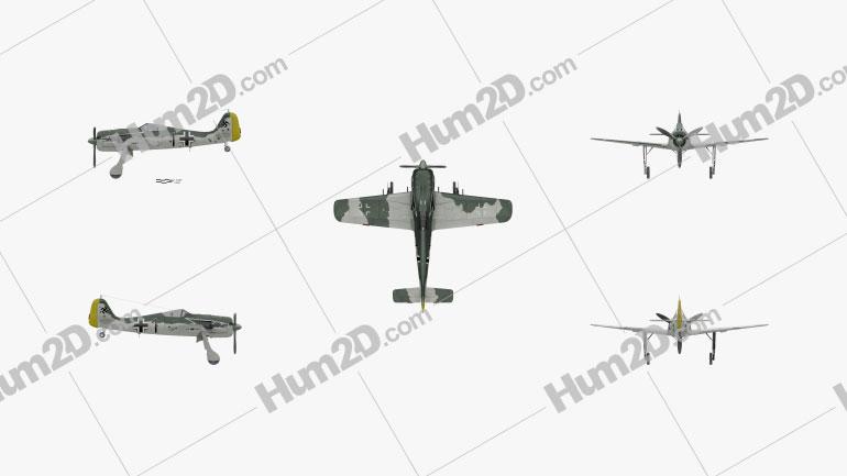 Focke-Wulf Fw 190 Aircraft clipart