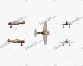 Fokker D.XXI Aircraft clipart