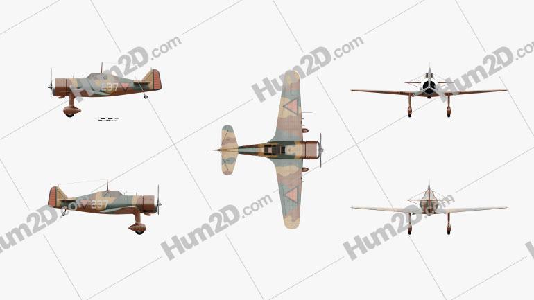 Fokker D.XXI Clipart Image