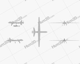 General Atomics MQ-9 Reaper Aircraft clipart