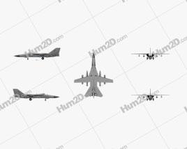 General Dynamics F-111 Aardvark Flugzeug clipart