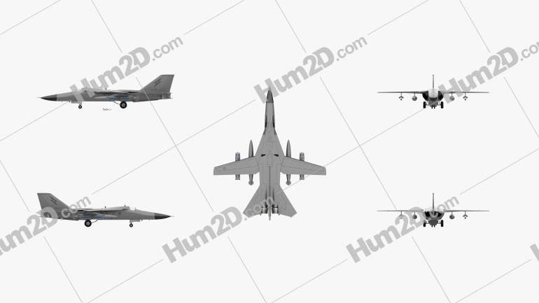 General Dynamics F-111 Aardvark Aircraft clipart