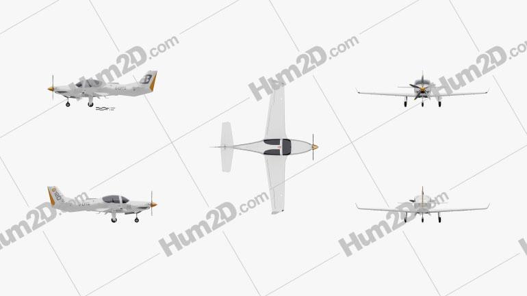 Grob G 120TP Aircraft clipart