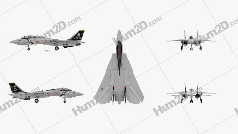 Grumman F-14 Tomcat Top Gun Aircraft clipart