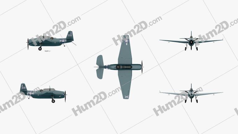 Grumman TBF Avenger Aircraft clipart