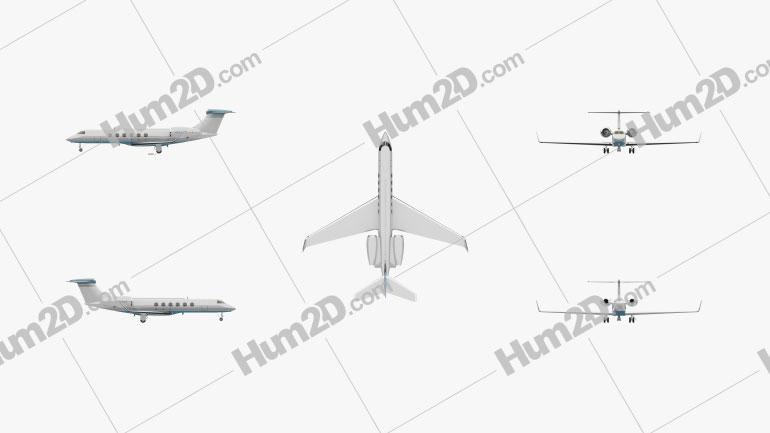 Gulfstream V Flugzeug clipart