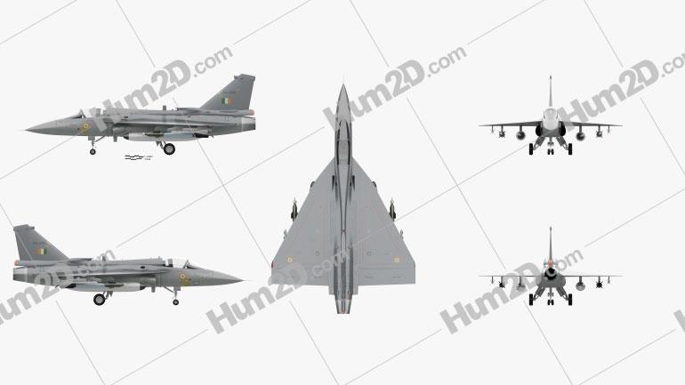 HAL Tejas Aircraft clipart
