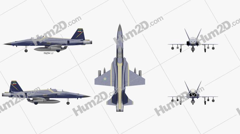 HESA Saeqeh Army Jet Plane Clipart Image