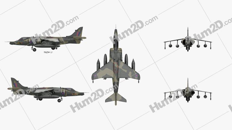 Hawker Siddeley Harrier Aircraft clipart